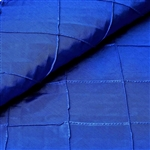 "54"" x 10"" Royal Blue Yards Pintuck Fabric Bolt Wedding Drape Panel Dress Stage Décor"