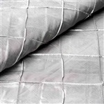 "54"" x 10"" Silver Yards Pintuck Fabric Bolt Wedding Drape Panel Dress Stage Décor"
