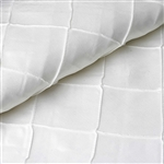 "54"" x 10"" White Yards Pintuck Fabric Bolt Wedding Drape Panel Dress Stage Décor"