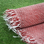 "54"" x 4 Yards Premium Raffia Picnic Party Upholstery Fabric Bolt - Red/White"