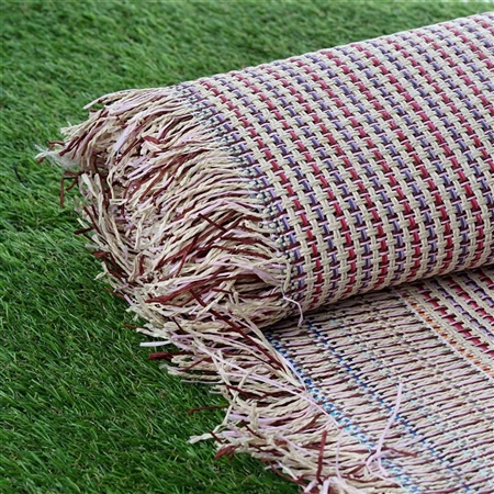 "54"" x 4 Yards Premium Raffia Picnic Party Upholstery Fabric Bolt - Multi Color"