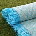 "54"" x 4 Yards Premium Raffia Picnic Party Upholstery Fabric Bolt - Turquoise"