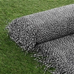 "54"" x 4 Yards Premium Raffia Picnic Party Upholstery Fabric Bolt - Black/Silver"