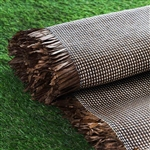 "54"" x 4 Yards Premium Raffia Picnic Party Upholstery Fabric Bolt - Chocolate/Natural"