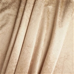 "65"" x 5 Yards Velvet Fabric Bolt Roll - Champagne"