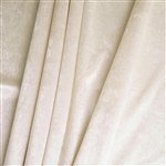 "65"" x 5 Yards Velvet Fabric Bolt Roll - Ivory"