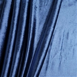 "65"" x 5 Yards Velvet Fabric Bolt Roll - Navy Blue"