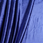 "65"" x 5 Yards Velvet Fabric Bolt Roll - Royal Blue"