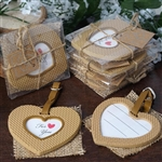 Burlap Heart Frame Favor