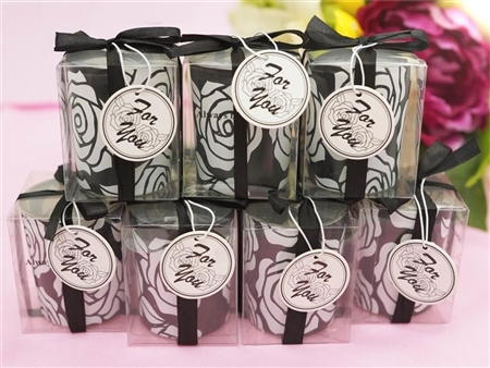 Candle Gift Favor with Glass Holder - 25 Pack