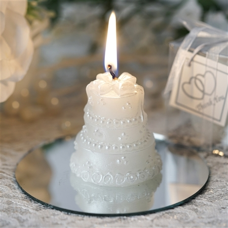 My Happiest Moment! Special Cake Candle Favor - White