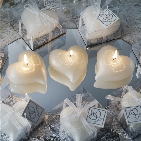 Only for You Large Floating Heart Candle 25 Pack - White
