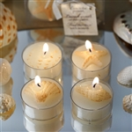 Caribbean Island Beach Candles Favors - 4 Pack