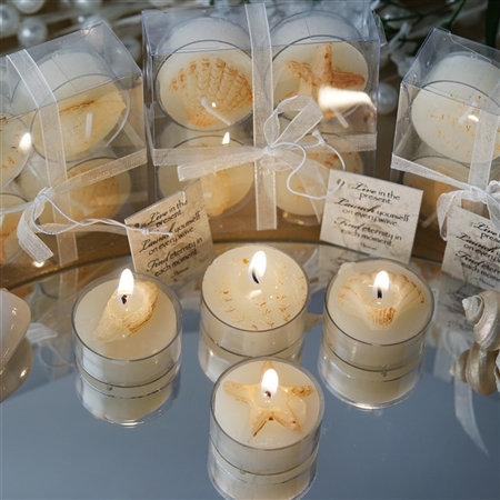 Caribbean Island Beach Candles Favors - 100 Pack