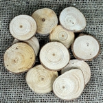 Rustic Wooden Chips Table Scatter Decoration Crafts - 25PCS