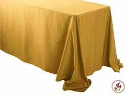 "Rental Flame Retardant 108"" x 156"" Rectangle Polyester Tablecloth"