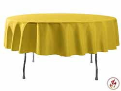 "Rental Flame Retardant 114"" Round Polyester Tablecloth"