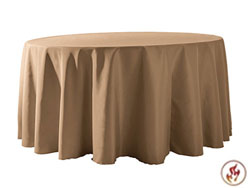 "Rental Flame Retardant 120"" Round Polyester Tablecloth"