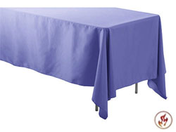 "Rental Flame Retardant 60"" x 120"" Rectangle Polyester Tablecloth"