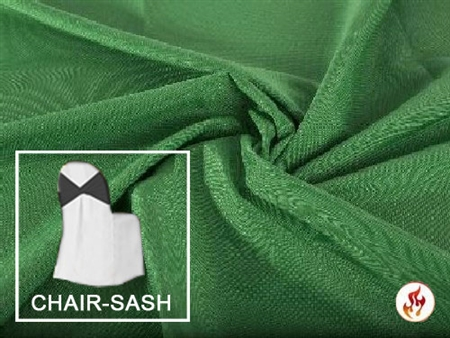 "Rental Flame Retardant 7"" X 108"" Polyester Chair Sash"