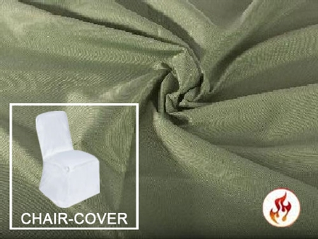 Rental Flame Retardant (Banquet) Polyester Chair Cover