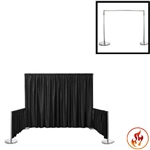 "Rental Flame Retardant Polyester Back Drop With 3"" Top Pocket 72"" W X 10Ft High"