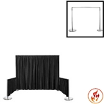 "Rental Flame Retardant Polyester Back Drop With 3"" Top Pocket 72"" W X 8Ft High"