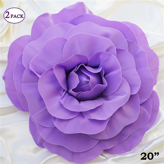 Buy 20 giant lavender artificial flowers for wedding 20 giant rose diy 3d artificial flowers for wedding room wall decoration lavender mightylinksfo