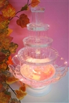 Lighted 5-Tier Plastic Party Fountain Centerpiece Decoration