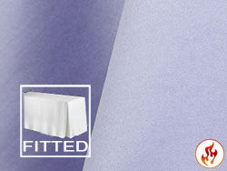 "Fire Retardant 6' x 30"" Satin Lamour Fitted Tablecloth"