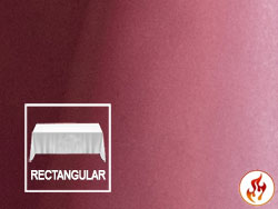"Fire Retardant 60""X120"" Satin Lamour Rectangular Tablecloth"