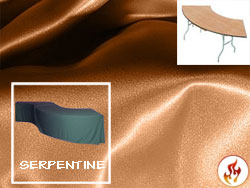 Flame Retardant Satin Lamour Serpentine Tablecloth (4830 Model)