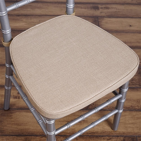 "2"" Thick Natural Burlap Cushion for Beechwood Chairs"