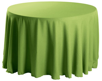 "Premium Faux Burlap 102"" Round Tablecloth"