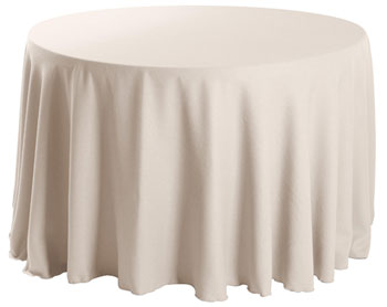 "Premium Faux Burlap 108"" Round Tablecloth"