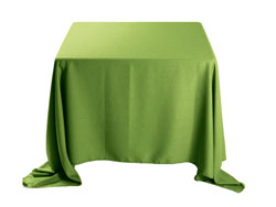 "Faux Burlap 108""x108"" Square Tablecloth (rounded corners)"