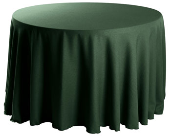 "Premium Faux Burlap 114"" Round Tablecloth"