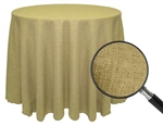 "Rental - Faux Burlap 114"" Round Tablecloth"