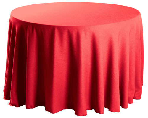 "Premium Faux Burlap 120"" Round Tablecloth"