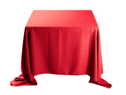 "Faux Burlap 120""x120"" Square Tablecloth (rounded corners)"
