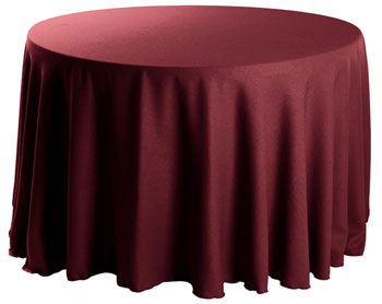 "Premium Faux Burlap 132"" Round Tablecloth"