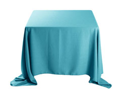 "Faux Burlap 132""x132"" Square Tablecloth (rounded corners)"