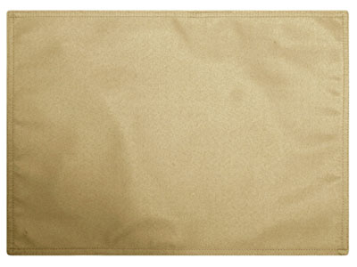"Premium Faux Burlap Placemat 13""x18"" Rectangular Double Needle (Squared Corners) 1 Dozen"