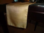 "Rental - Faux Burlap 13""x108"" Table Runner"