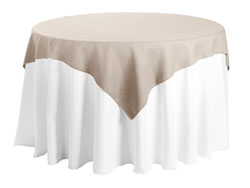 "Faux Burlap 45""x45"" Square Tablecloth"