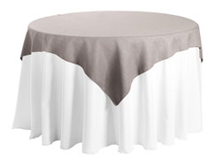 "Faux Burlap 54""x54"" Square Tablecloth"
