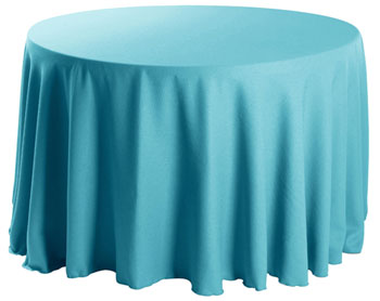 "Premium Faux Burlap 58"" Round Tablecloth"