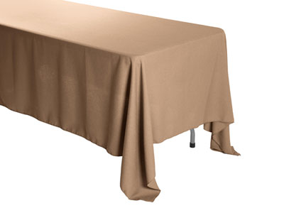 "Premium Faux Burlap 58""x120"" Rectangular Tablecloth"
