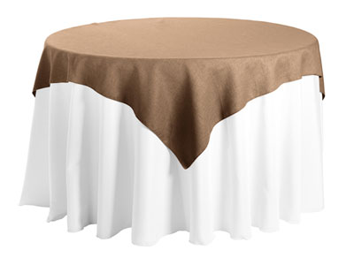 "Faux Burlap 72""x72"" Square Tablecloth"