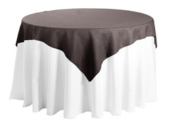 "Faux Burlap 84""x84"" Square Tablecloth"